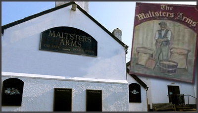 Maltsters Woodbury Pub Famous Sign